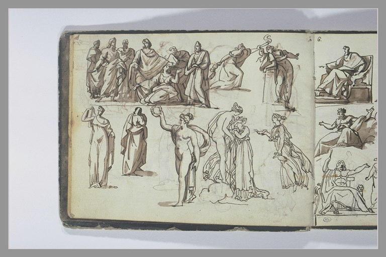 GERICAULT Théodore : Etudes de figures et de composition d'après l'antique