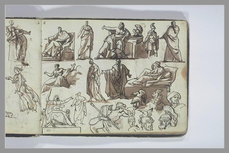 GERICAULT Théodore : Etudes de figures d'après l'antique