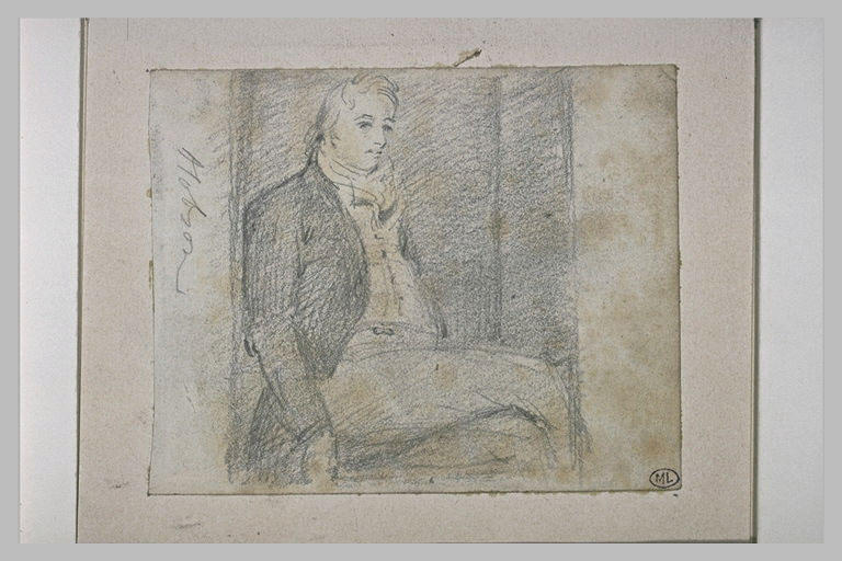 Portrait de Hobson assis, de profil vers la droite