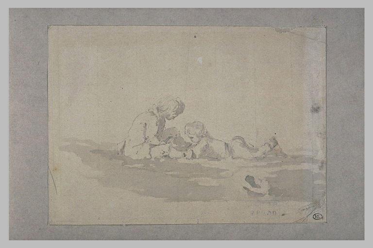 Deux enfants jouant