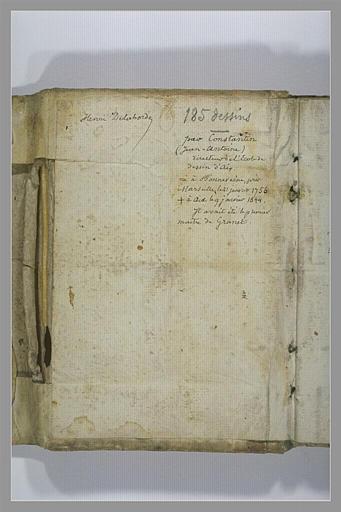 CONSTANTIN Jean Antoine : Note manuscrite