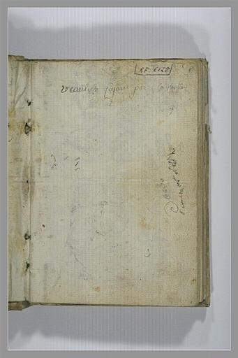 Note manuscrite : receuil de figures par Constantin