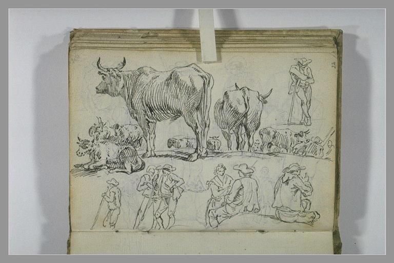 Etudes de paysans et de taureaux_0