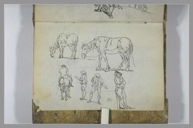 Etudes de paysans et de chevaux_0