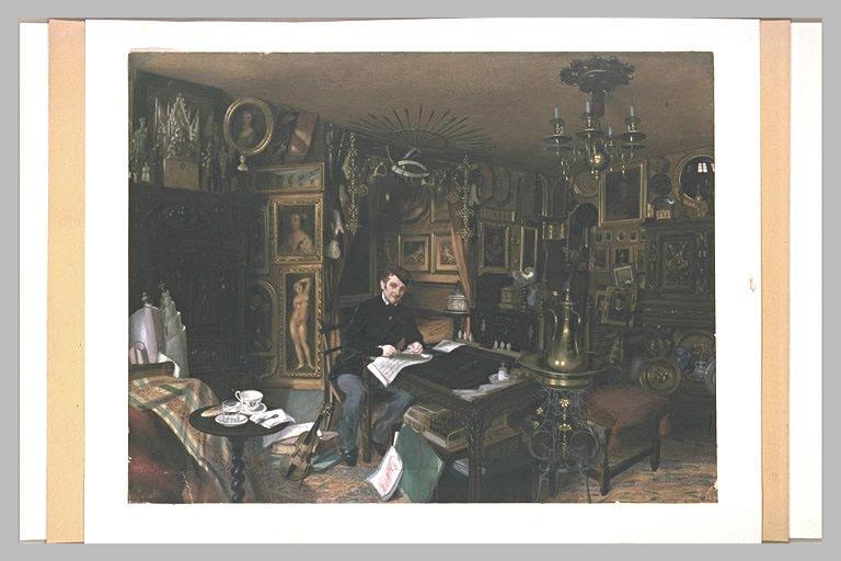 Charles Sauvageot dans son appartement du 56 rue du faubourg Poissonnière