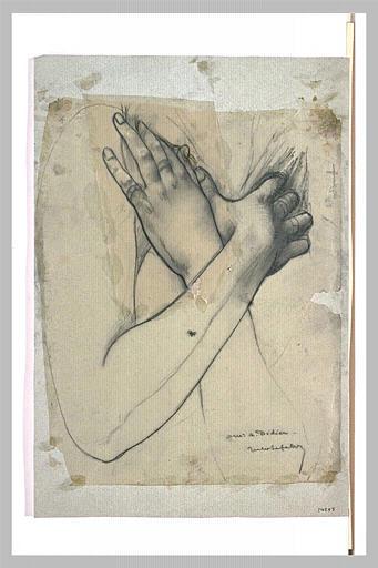 LEFEBVRE Jules Joseph : Bras croisés sur la poitrine