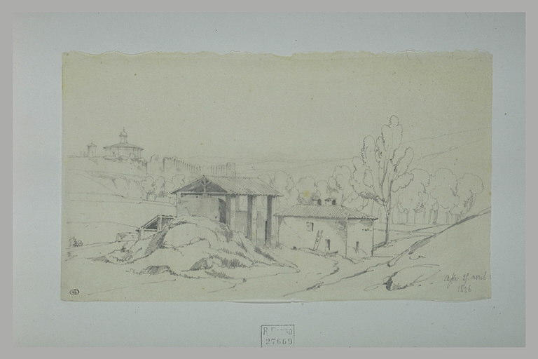 Vue d'une partie de la ville d'Asti