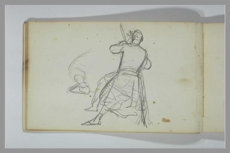 YVON Adolphe : Un soldat, vu de dos, reprise de la jambe gauche