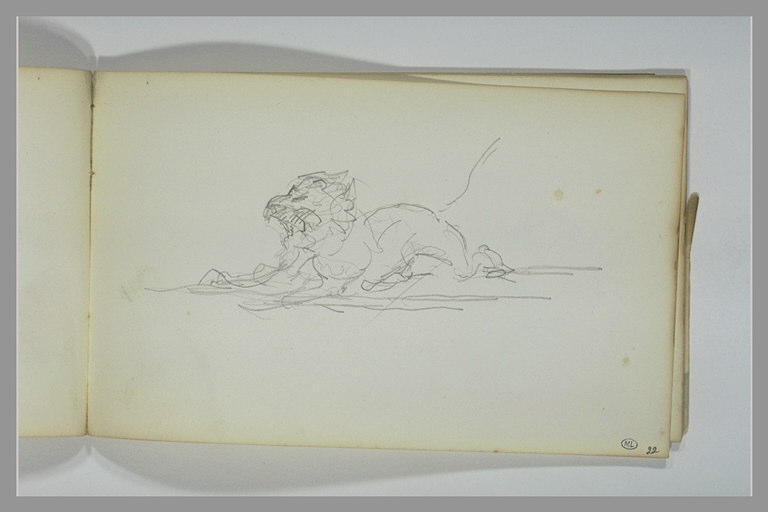 YVON Adolphe : Un lion rugissant