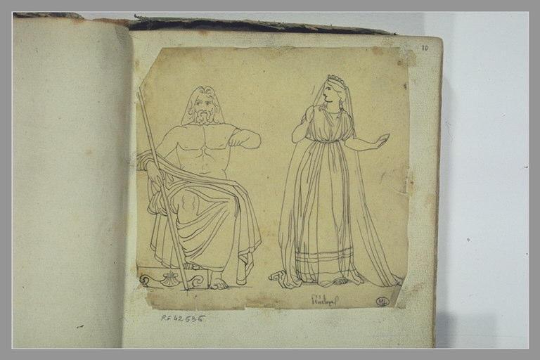 YVON Adolphe : Deux figures d'après l'antique