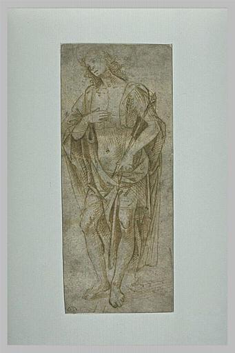 Saint Sébastien debout, de trois quarts vers la gauche