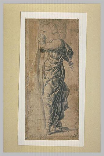 Saint Jean debout, de profil à gauche, les mains jointes