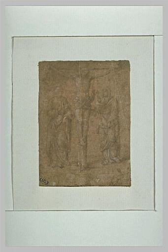 Christ en Croix entre saint Jean et la Vierge