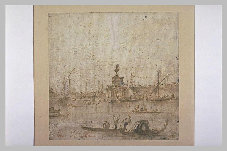 Vue de Venise, avec la Dogana au second plan