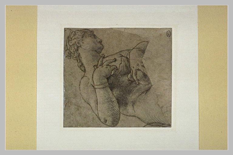Buste de femme nue, de profil vers la droite