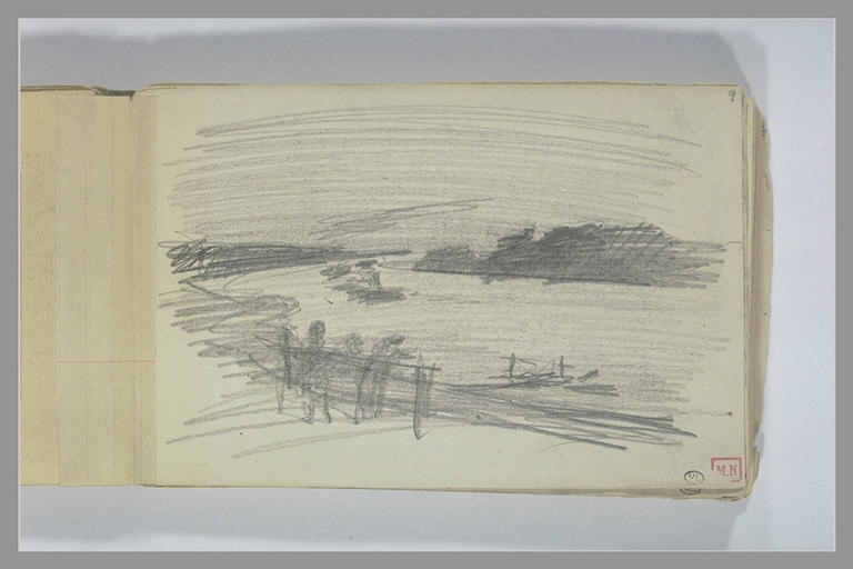 BERTON Armand : Paysage avec une rivière