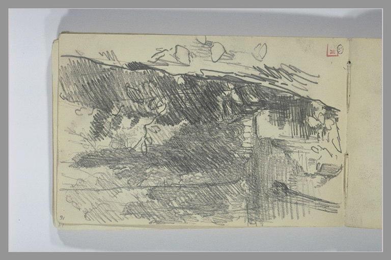 BERTON Armand : Grands arbres au bord de l'eau