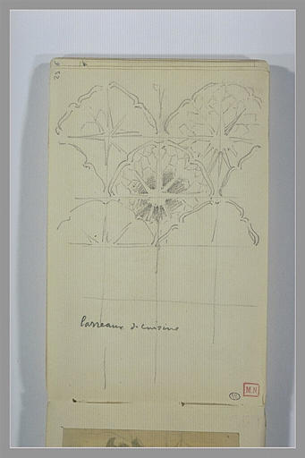 Etudes inachevées de carreaux de cuisine à décor floral