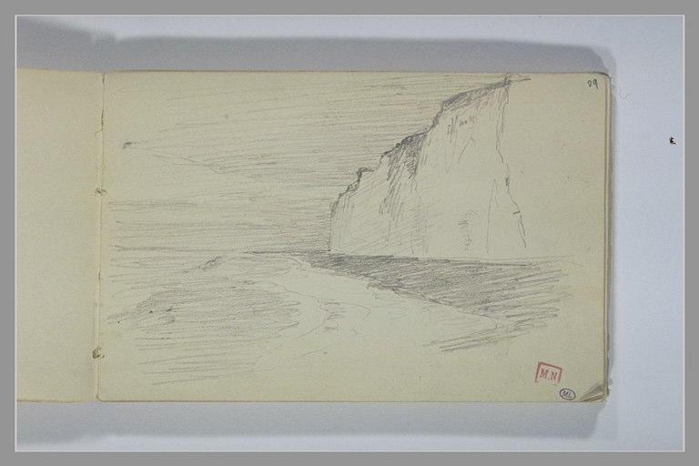 BERTON Armand : Falaises au bord de la mer