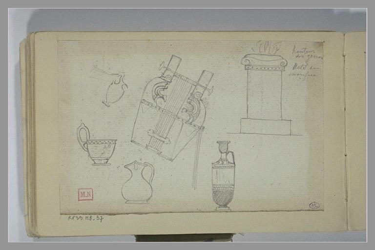 BERTON Armand : Etudes d'après objets antiques