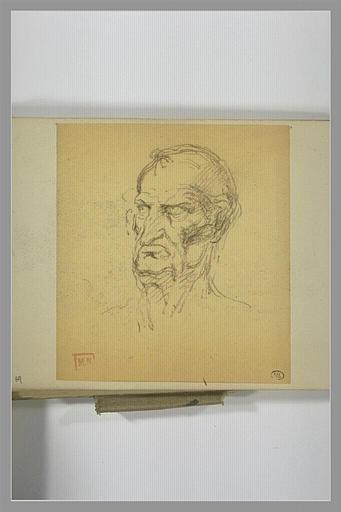 BERTON Armand, VINCI Leonardo da (inspiré par) : Tête d'homme