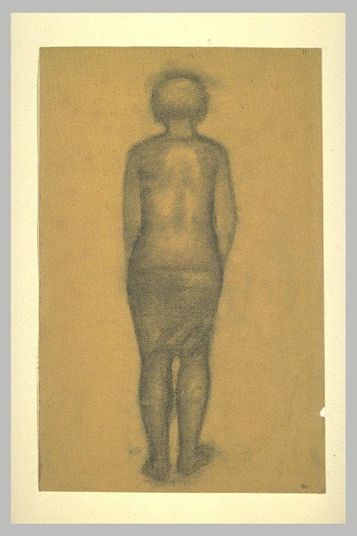 Femme à demi nue, vue de dos_0