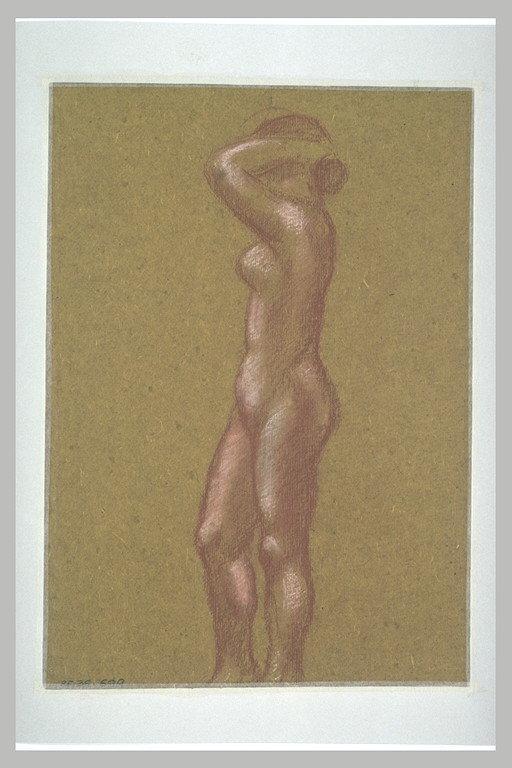 Femme nue, bras levés_0