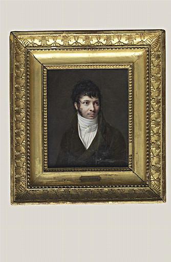 AUGUSTIN Jean-Baptiste Jacques : Portrait du sculpteur Callamard, à mi-corps