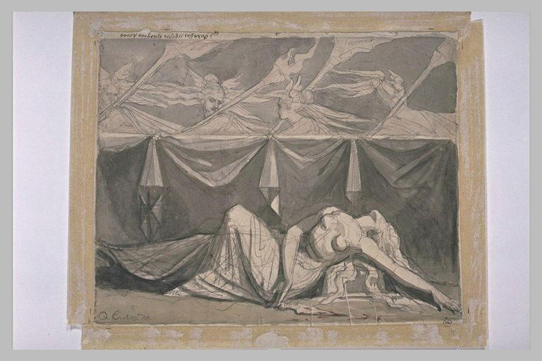 Les Erinyes auprès du corps d'Eriphyle