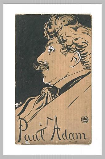 Portrait de Paul Adam, en buste