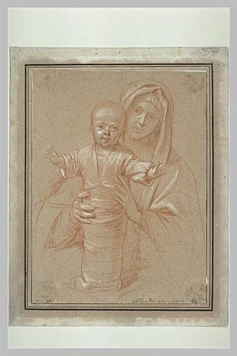 La Vierge tenant l'Enfant debout et emmailloté