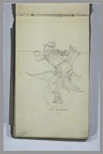YVON Adolphe : Un guerrier tatar armé d'un sabre, d'un arc et d'une lance