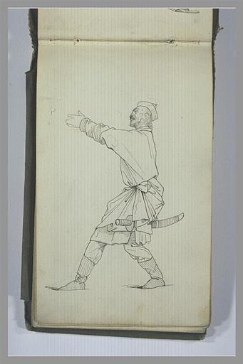YVON Adolphe : Un guerrier tatar, armé d'un sabre