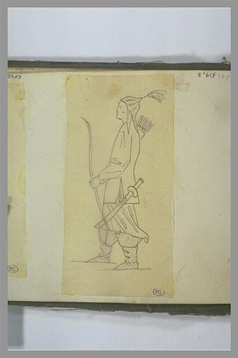 YVON Adolphe : Un guerrier armé d'un arc et d'un sabre