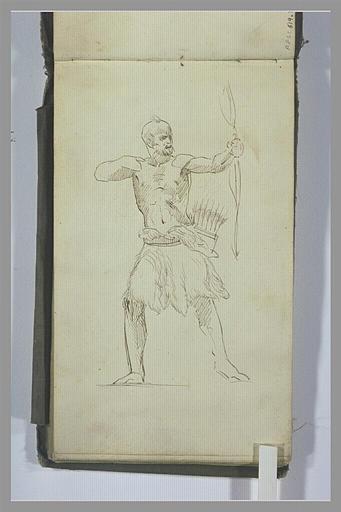 Un guerrier armé d'un arc
