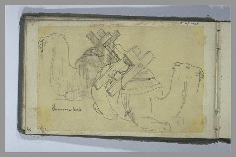 YVON Adolphe : Deux chameaux bâtés