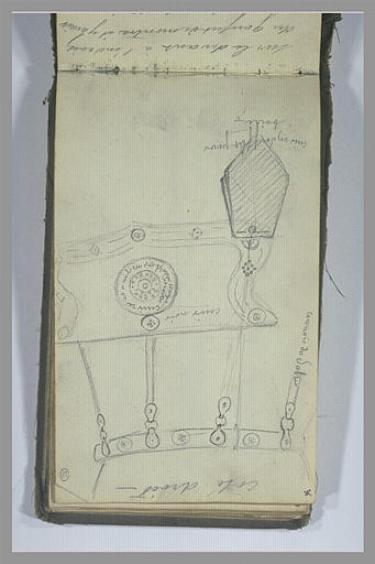 YVON Adolphe : Etudes d'éléments décoratifs d'un vêtement