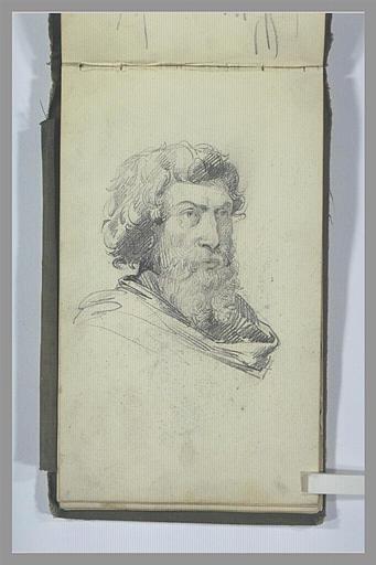 Portrait d'homme barbu, de trois quarts vers la droite