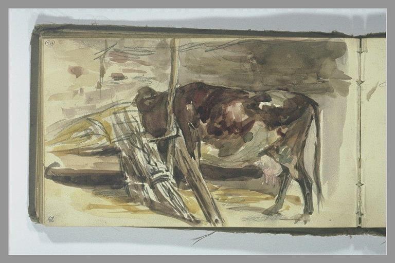 Une vache dans une étable