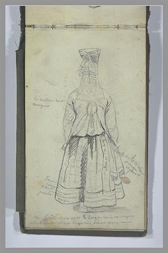 YVON Adolphe : Etude de costume féminin