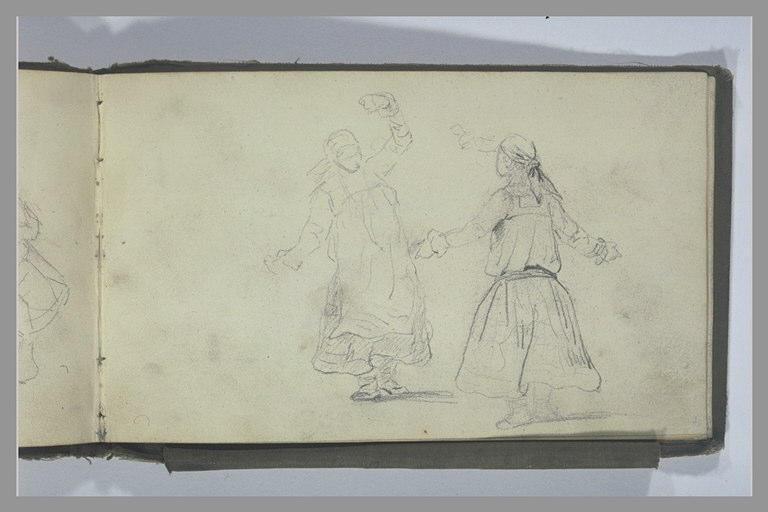 Deux femmes dansant