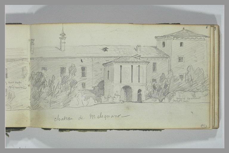 Vue du château de Melegnano