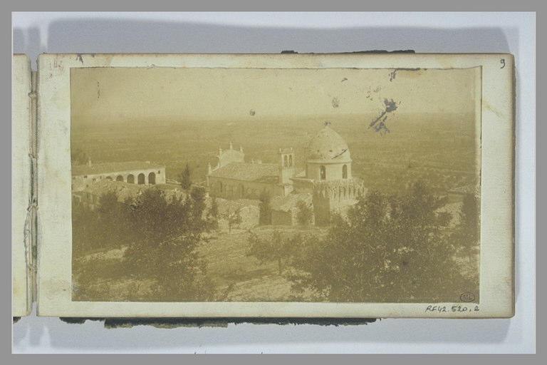 YVON Adolphe : Vue d'une église dans un paysage