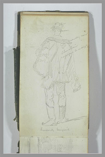 YVON Adolphe : Un hussard hongrois, vu de dos