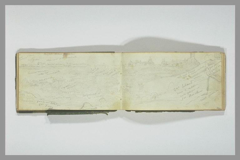 YVON Adolphe : Vue de Solférino et des environs, et annotations manuscrites