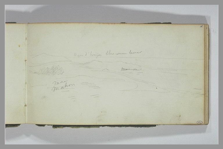 YVON Adolphe : Paysage de Lombardie et annotations manuscrites