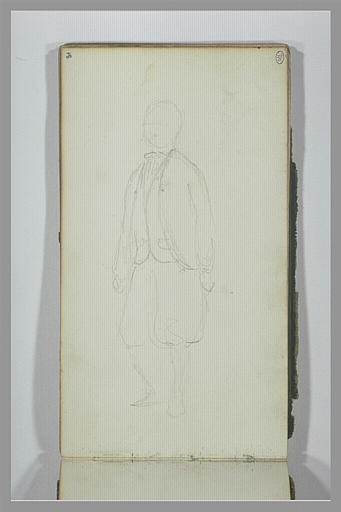 YVON Adolphe : Personnage debout, portant un pantalon bouffant