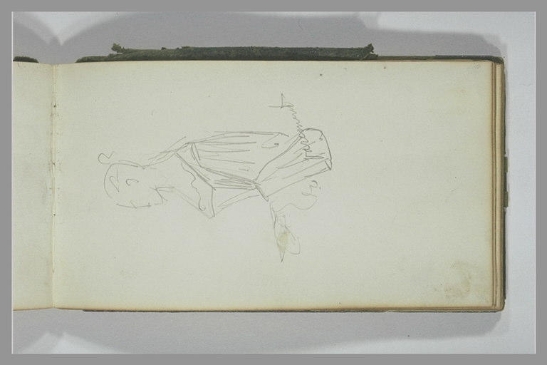 YVON Adolphe : Femme, vue à mi-corps, de profil