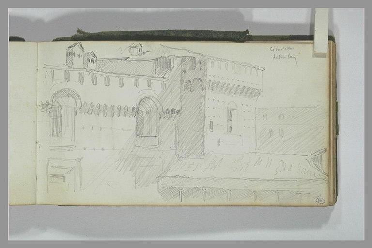 YVON Adolphe : Vue de la citadelle de Milan