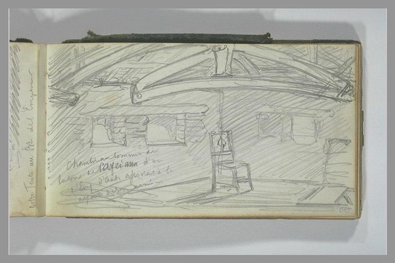 YVON Adolphe : Intérieur d'une maison rustique